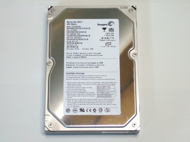 ST3200822A 200GB 3.5インチ 7200rpm IDE HDD